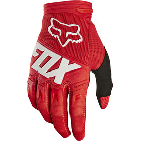Fox Dirtpaw Race - Gants Enfant - rouge/blanc